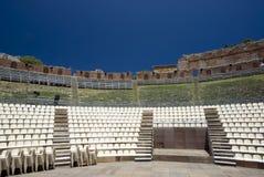 Théâtre grec-romain de Taormina Image libre de droits