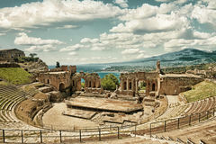 Théâtre HDR du ` s de Taormina Photo stock