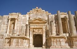Théâtre méridional, Jerash, Jordanie Image stock