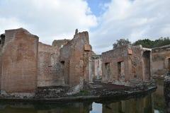 Théâtre maritime, la villa de Hadrian, Tivoli, Italie, le 26 novembre, Images stock