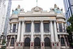 Théâtre municipal dans Rio de Janeiro du centre images stock