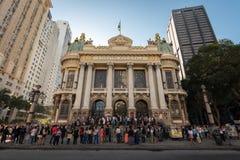 Théâtre municipal de Rio de Janeiro photo libre de droits
