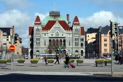 Théâtre national à Helsinki image libre de droits