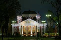 Théâtre national de la Bulgarie, Sofia image stock