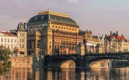 Théâtre national de Prague, République Tchèque Images libres de droits
