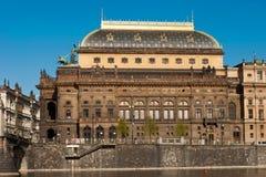 Théâtre national tchèque à Prague Images libres de droits
