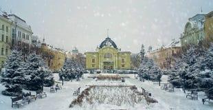 Théâtre pendant l'hiver Photographie stock