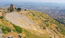 Théâtre romain antique énorme Images stock