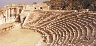 Théâtre romain antique en Israël Images libres de droits