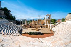 Théâtre romain de Plovdiv Images libres de droits