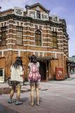 Théâtre rouge de Chambre dans Ximending Image libre de droits