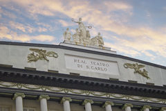 Théâtre San Carlo Photo stock