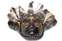 Théâtre vénitien de masque de carnaval d'isolement sur le fond blanc Image stock