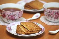 Thé à la maison Photos libres de droits