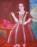 Thé, acrylique sur la toile, tirée par la main illustration de vecteur