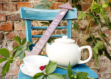 Thé au jardin Image libre de droits
