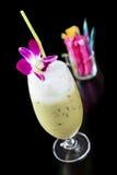 Thé au lait vert glacé Photographie stock