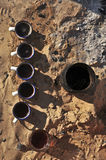 Thé au Sahara Images stock