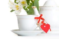 Thé avec amour Photographie stock