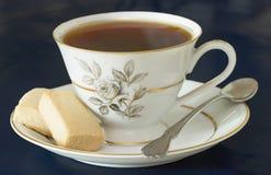 Thé avec des biscuits Photo stock
