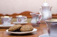 Thé avec des biscuits Photographie stock