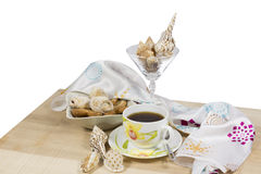Thé avec des biscuits Image libre de droits