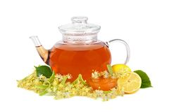 Thé avec du miel Photo libre de droits