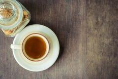 Thé avec du sucre Image stock