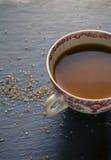 Thé avec du sucre Photographie stock libre de droits