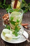 Thé avec la menthe Photographie stock libre de droits