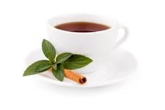 Thé avec la menthe et la cannelle Image libre de droits