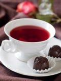 Thé avec la sucrerie Images libres de droits