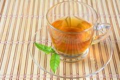 Thé avec le bambou Photo stock