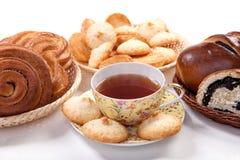 Thé avec le traitement au four Image stock