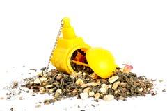Thé avec un sachet à thé submersible Photographie stock libre de droits