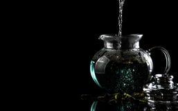 Thé bleu Photo libre de droits