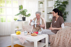 Thé célèbre de grand-mamans Images libres de droits