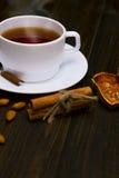 Thé chaud avec de la cannelle Photographie stock libre de droits