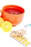 Thé chaud avec le citron Image stock