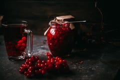 Thé chaud fait à partir de la canneberge Photo stock