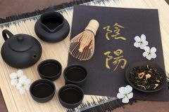 Thé chinois de jasmin Photos libres de droits