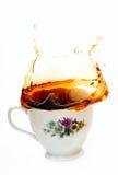 thé d'éclaboussure photos stock