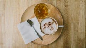 thé d'éléments de conception de café Images libres de droits