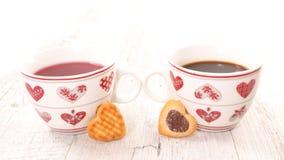 thé d'éléments de conception de café Photographie stock libre de droits