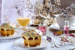 Thé d'après-midi avec des petits pains Images libres de droits