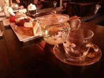Thé d'après-midi de Chez-Shibata's dans Xixi le ¼ Œhangzhou, Chine d'ï de parc de marécage de ressortissant Image stock