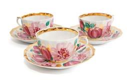 thé d'isolement de service Photographie stock
