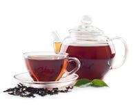 Thé dans la cuvette Image stock