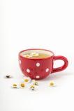 Thé de camomille dans la tasse Photos stock