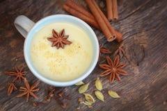 Thé de Chai avec l'anis Photos stock